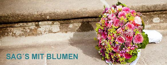 Sags mit Blumen aus der Blumenstube di Stefano!